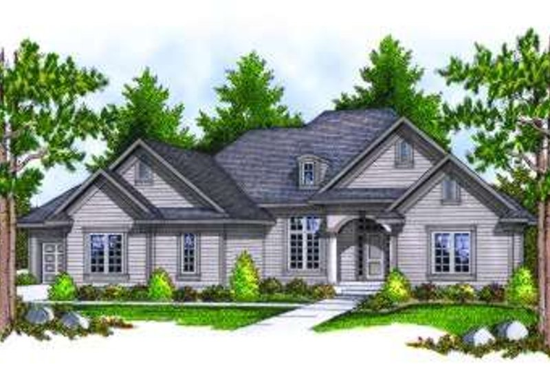 Colonial Exterior - Front Elevation Plan #70-811