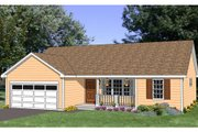 Ranch Style House Plan - 3 Beds 2 Baths 1296 Sq/Ft Plan #116-276 Exterior - Front Elevation