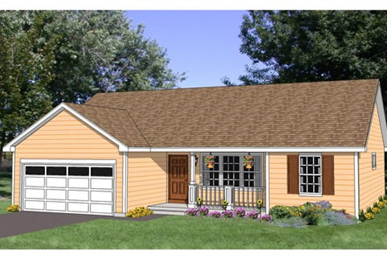 Ranch Exterior - Front Elevation Plan #116-276