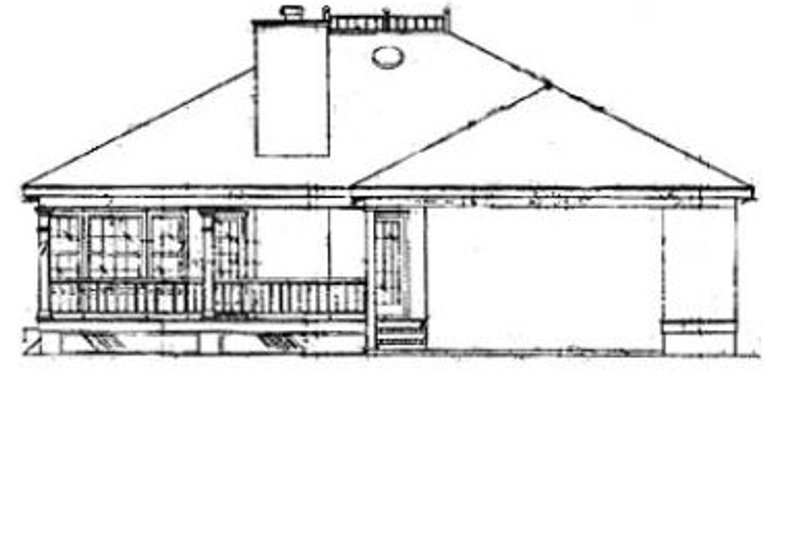 Southern Exterior - Rear Elevation Plan #37-147 - Houseplans.com