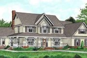 Country Style House Plan - 5 Beds 2.5 Baths 3005 Sq/Ft Plan #11-118 Exterior - Front Elevation