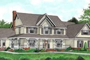 Country Exterior - Front Elevation Plan #11-118