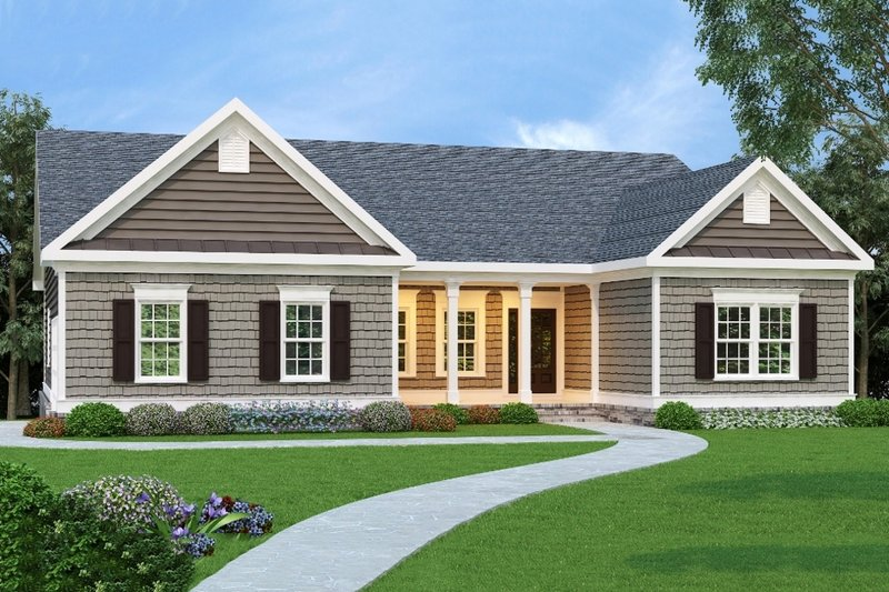 Traditional Exterior - Front Elevation Plan #419-144 - Houseplans.com