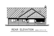 Ranch Style House Plan - 2 Beds 2 Baths 1195 Sq/Ft Plan #18-1021 Exterior - Rear Elevation