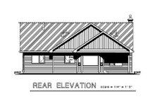 Ranch Exterior - Rear Elevation Plan #18-1021