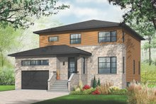 Dream House Plan - Modern Exterior - Front Elevation Plan #23-2292