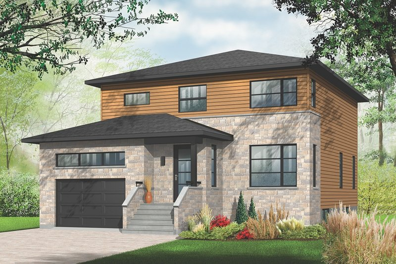 Modern Style House Plan - 4 Beds 2.5 Baths 2135 Sq/Ft Plan #23-2292 Exterior - Front Elevation