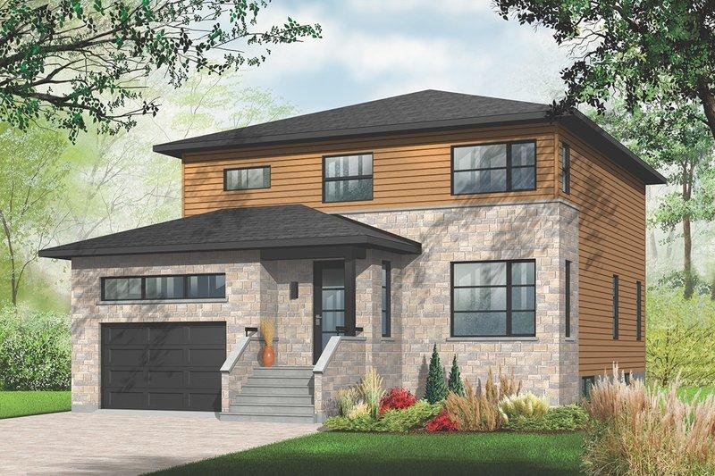 Architectural House Design - Modern Exterior - Front Elevation Plan #23-2292
