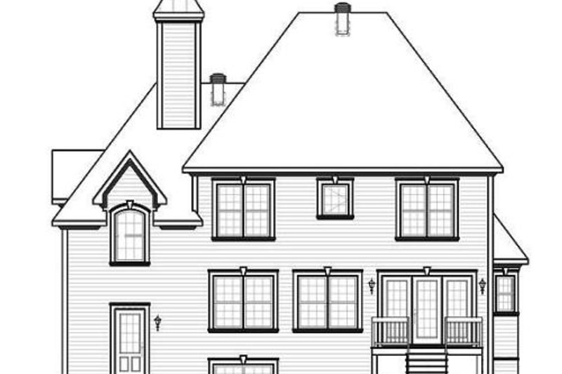 Country Exterior - Rear Elevation Plan #23-407 - Houseplans.com