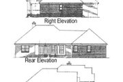Mediterranean Style House Plan - 3 Beds 2.5 Baths 2104 Sq/Ft Plan #14-158 Exterior - Rear Elevation