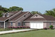 Traditional Style House Plan - 4 Beds 2.5 Baths 2362 Sq/Ft Plan #1-540 Exterior - Front Elevation