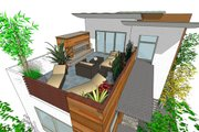Modern Style House Plan - 3 Beds 3.5 Baths 1990 Sq/Ft Plan #484-1 Exterior - Outdoor Living