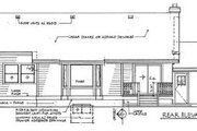 Ranch Style House Plan - 3 Beds 2 Baths 1456 Sq/Ft Plan #47-248 Exterior - Rear Elevation