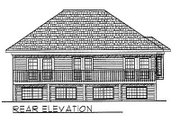 Traditional Style House Plan - 2 Beds 1 Baths 1125 Sq/Ft Plan #70-229 Exterior - Rear Elevation