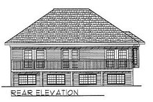 Dream House Plan - Traditional Exterior - Rear Elevation Plan #70-229