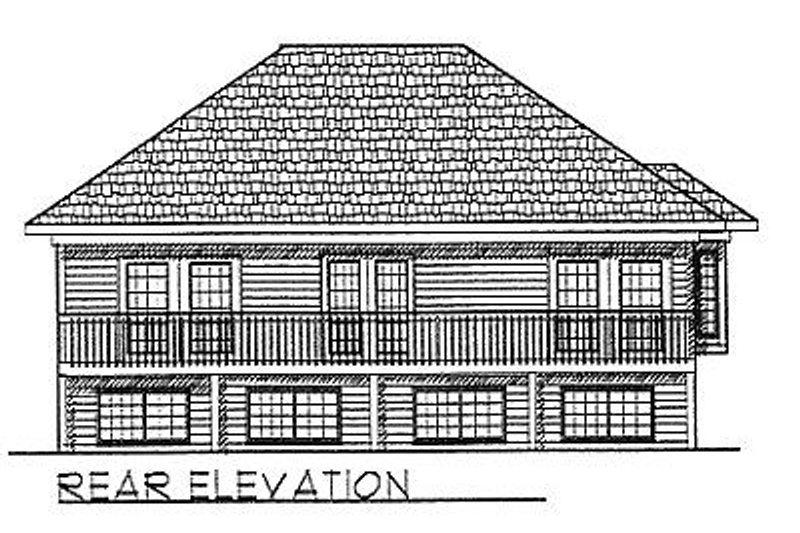 Traditional Exterior - Rear Elevation Plan #70-229 - Houseplans.com