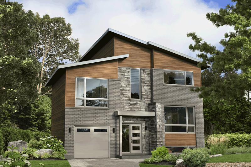 Home Plan - Contemporary Exterior - Front Elevation Plan #25-4916