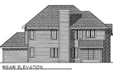 Dream House Plan - Traditional Exterior - Rear Elevation Plan #70-434