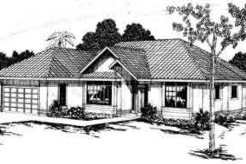 Traditional Style House Plan - 4 Beds 2 Baths 2022 Sq/Ft Plan #124-219 Exterior - Front Elevation