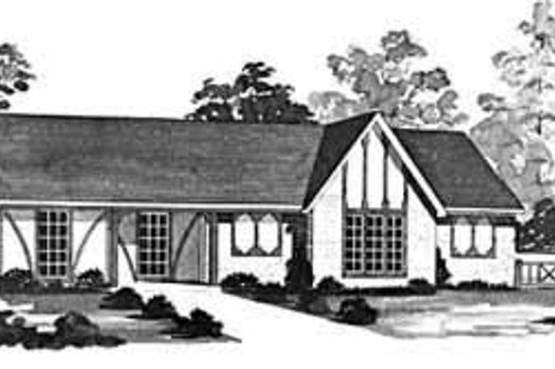 European Exterior - Front Elevation Plan #36-369 - Houseplans.com