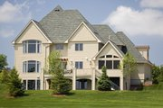 Traditional Style House Plan - 5 Beds 4.5 Baths 4576 Sq/Ft Plan #56-603 Exterior - Rear Elevation
