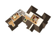 Traditional Style House Plan - 5 Beds 3 Baths 4897 Sq/Ft Plan #25-4736 Floor Plan - Upper Floor Plan