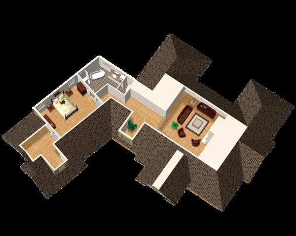 Traditional Floor Plan - Upper Floor Plan #25-4736