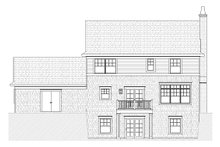 Colonial Exterior - Rear Elevation Plan #901-22