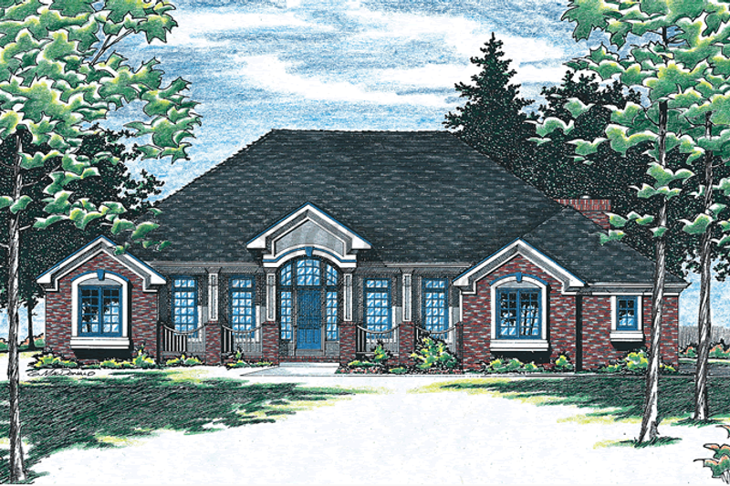Dream House Plan - Traditional Exterior - Front Elevation Plan #20-928