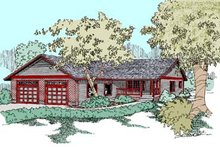 Ranch Exterior - Front Elevation Plan #60-539