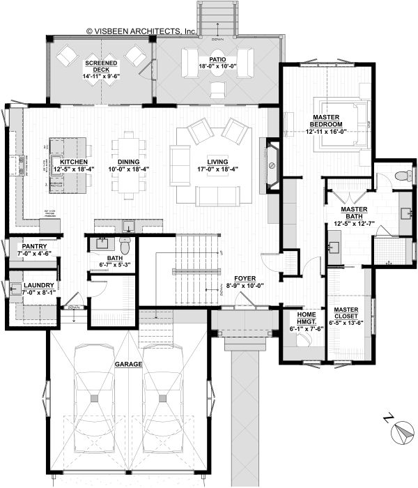 House Plan Design - Colonial Floor Plan - Main Floor Plan #928-334