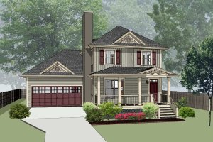 Southern Exterior - Front Elevation Plan #79-201