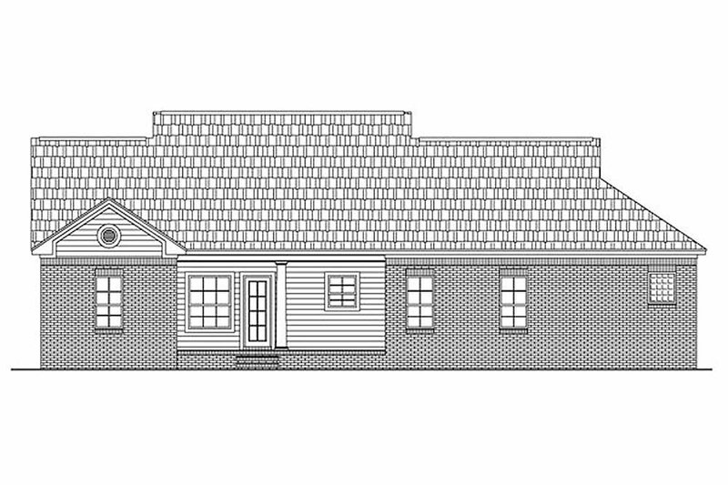 Southern Exterior - Rear Elevation Plan #21-146 - Houseplans.com