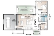 Ranch Style House Plan - 2 Beds 1 Baths 1212 Sq/Ft Plan #23-2637 Floor Plan - Main Floor Plan