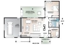Ranch Floor Plan - Main Floor Plan Plan #23-2637