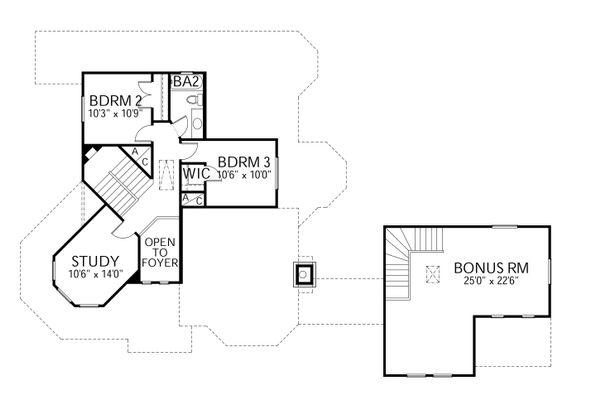 Dream House Plan - Traditional Floor Plan - Upper Floor Plan #80-148