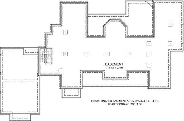 Architectural House Design - Optional Basement