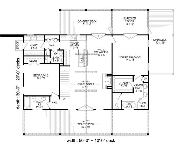 Dream House Plan - Country Floor Plan - Main Floor Plan #932-361