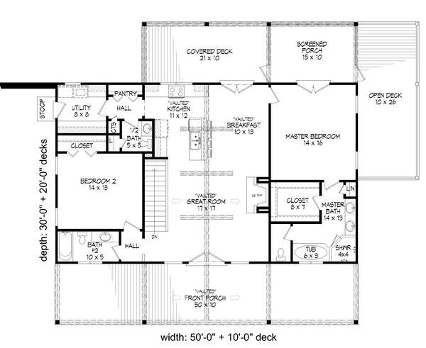 Country Floor Plan - Main Floor Plan #932-361