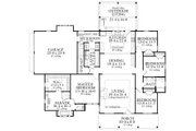 Cottage Style House Plan - 4 Beds 2 Baths 2480 Sq/Ft Plan #406-9656 Floor Plan - Main Floor