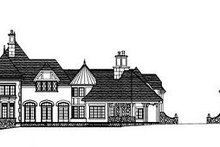 Tudor Exterior - Rear Elevation Plan #413-127