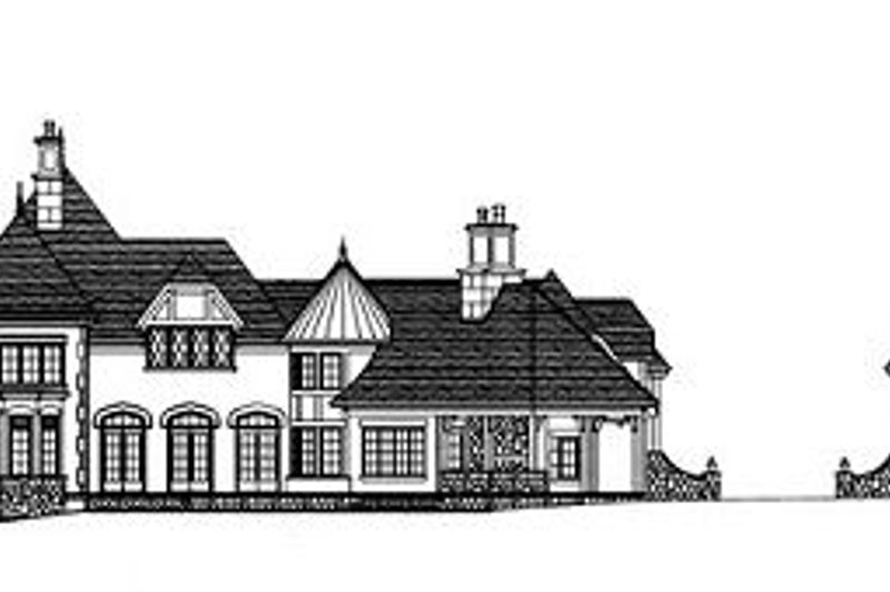Tudor Exterior - Rear Elevation Plan #413-127 - Houseplans.com