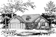 European Style House Plan - 3 Beds 2.5 Baths 1635 Sq/Ft Plan #22-524 Exterior - Other Elevation