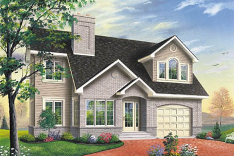 Architectural House Design - Traditional Exterior - Front Elevation Plan #23-231