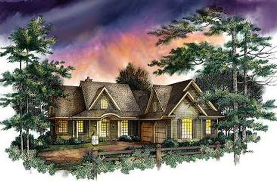 Craftsman Exterior - Front Elevation Plan #71-120