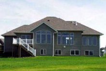 Home Plan - Traditional Exterior - Rear Elevation Plan #70-218