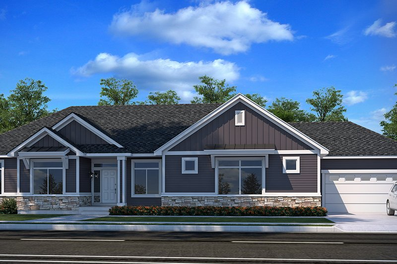 Architectural House Design - Farmhouse Exterior - Front Elevation Plan #1073-17