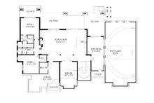 Craftsman Floor Plan - Lower Floor Plan Plan #920-49