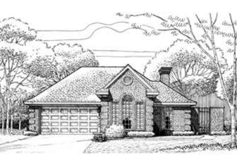 European Exterior - Front Elevation Plan #410-221