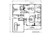 Traditional Style House Plan - 3 Beds 2.5 Baths 1573 Sq/Ft Plan #53-426 Floor Plan - Main Floor Plan